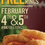 Burger King: FREE Onion Rings February 4 & 5