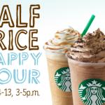 Starbucks: 1/2 Price Frappuccino's 5/4 – 5/13