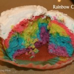 Frugal Family Fun: We Baked Rainbow Cupcakes (Day 9)
